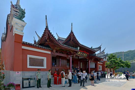 马尾区船政特色历史文化街区的左沈二公祠。