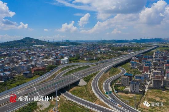 福州长福高速公路正式通车 福清到长乐只需20分钟