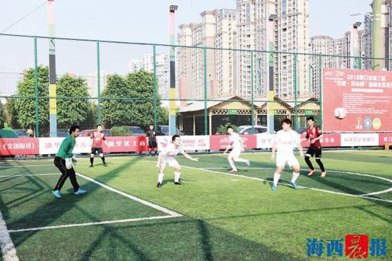 球队参加厦门业余足球赛。