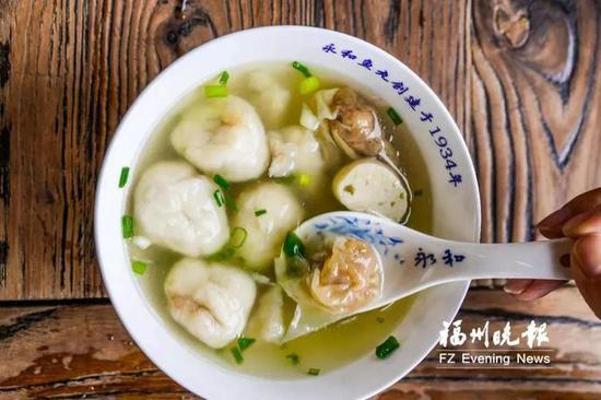 锅边糊、海蛎饼、肉燕、鱼丸