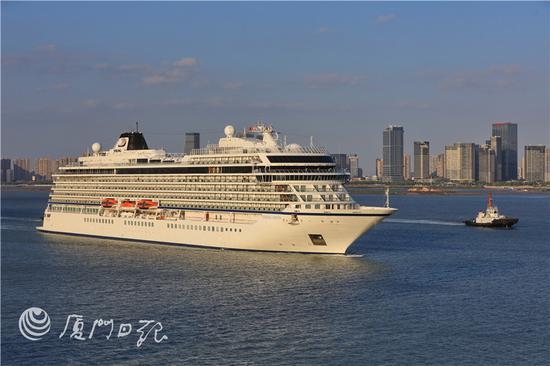 厦门国际邮轮母港喜迎2019年第一百艘邮轮到来