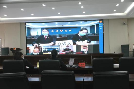 """泉港检察:""""云庭审""""集中上线!出庭支持公诉3起刑事案件"""