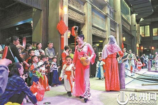 """泉州美食城更名""""刺桐时代村"""" 正式对外开放"""