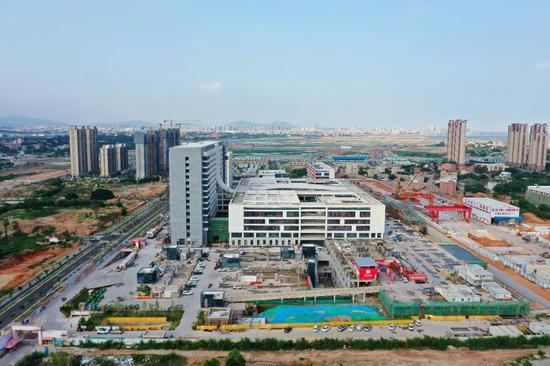 马銮湾医院最新进展:正在进行室内装饰装修及安装工程施工