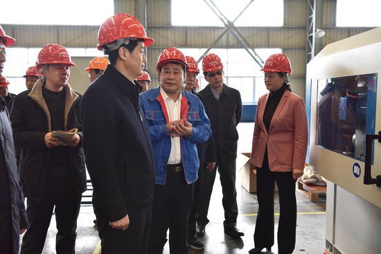 三明市市长余红胜一行莅临三明化机调研节后工作