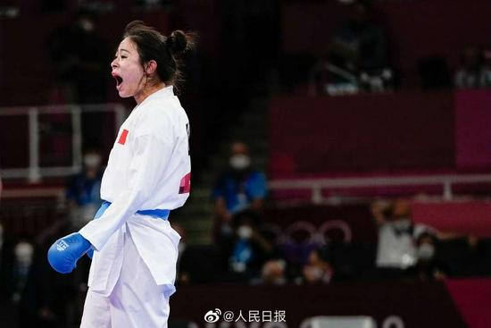 福建姑娘龚莉夺得空手道女子组手61公斤以上级铜牌