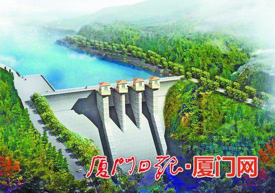 上存大坝效果图。(厦门水务集团供图)