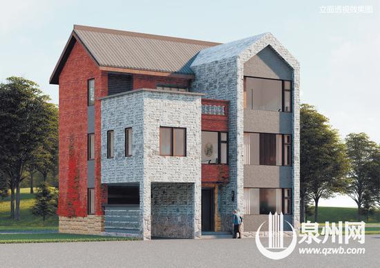 《闽南地区现代民居设计(100平方米)》效果图