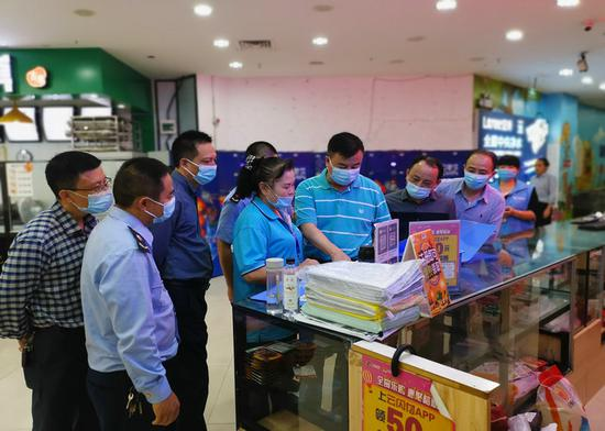 福州市市场监管局周璇食品安全总监带队赴闽清县局开展综合工作督导