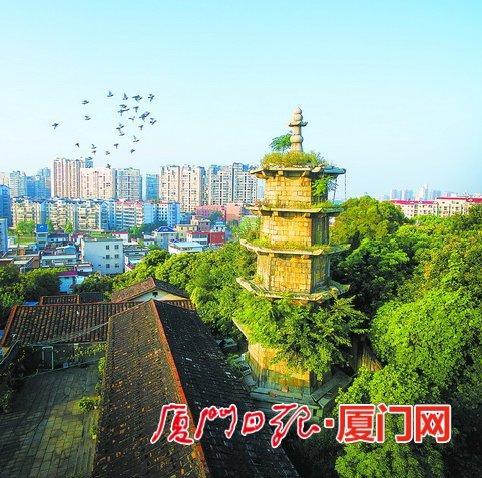 同安文笔塔距今已有400多年历史。(叶声传 摄)