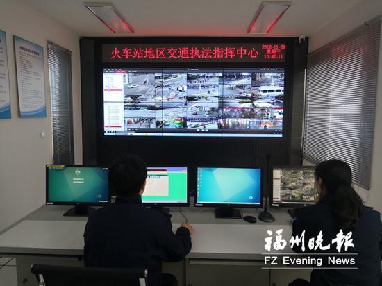 福州火车站区域有43路高清探头,实现了监控的全覆盖。
