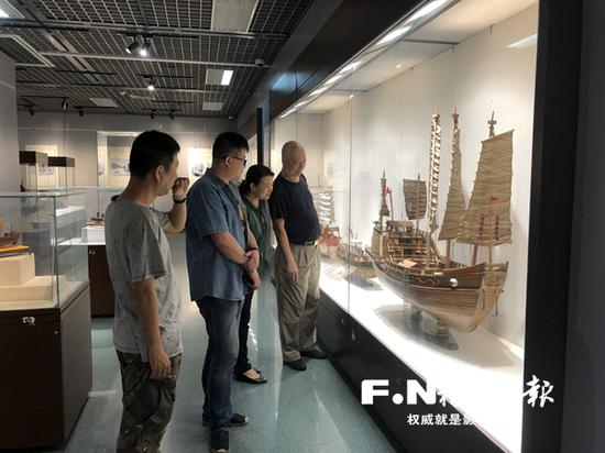 中国古代船模展现场。
