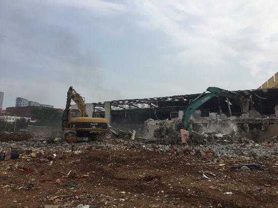 浦东社旧村拆除现场。