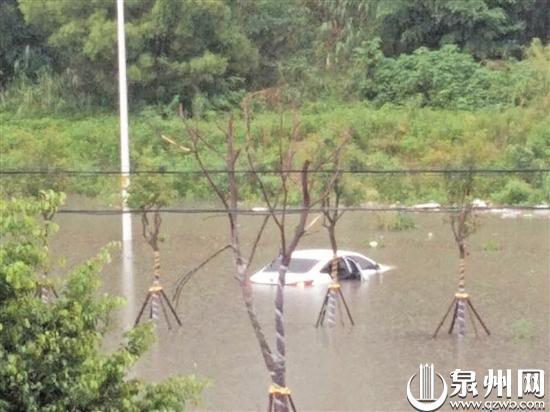 清源山附近积水
