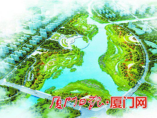 环马銮湾岸线景观带效果图。(马銮湾新城开发建设总指挥部供图)