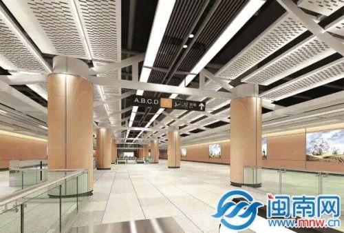 """厦门地铁1号线站台设计方案公布 将""""一线一景"""""""
