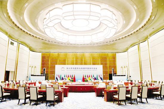 厦门国际会议中心的会议室。记者 唐光峰 摄