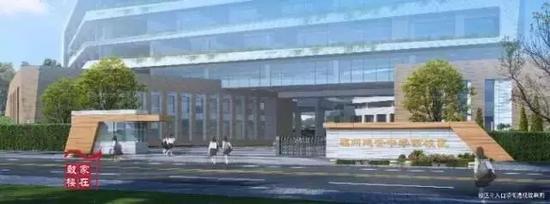 延安中学西校区主入口沿街透视效果图