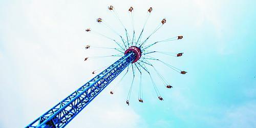 """""""高空飞翔""""项目带您俯瞰园区风景,放飞心灵。"""