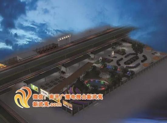 ▲南平市新水东大桥东桥头下综合性疏导市场建设项目效果图