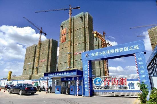 ▲翔安东路以东的九溪小区昨日实现全面封顶,可提供保障性住房2202套