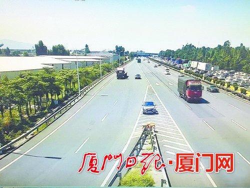 高速厦门辖区的匝道口都增设了新型抓拍系统,在导流线上违停、逆行等都会被立即抓拍。