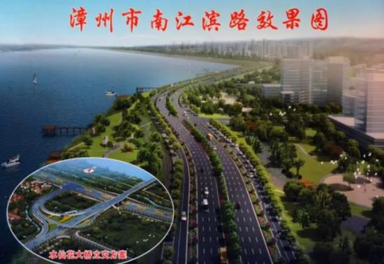△南江滨路整幅宽度是70米,双向八车道,集道路水利及绿化于一体,建成之后将贯通东西,连接南北。