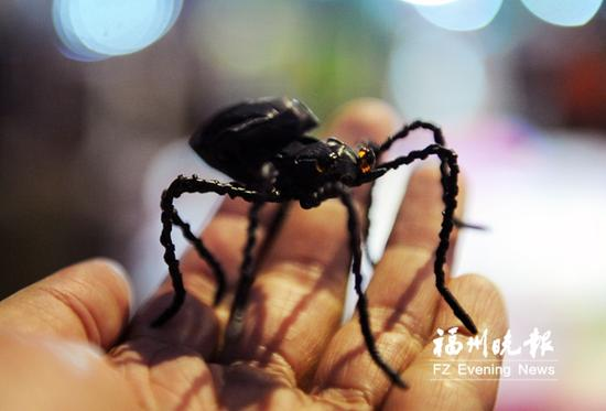 他编织的蜘蛛栩栩如生。