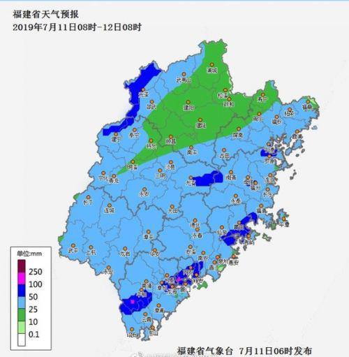 今天福建全省出现分散性暴雨 这些地方请注意!