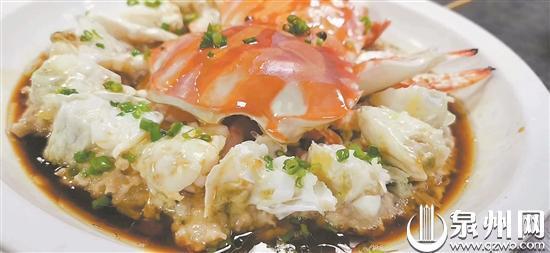 蟹是泉州宴席上经常会出现的一道菜