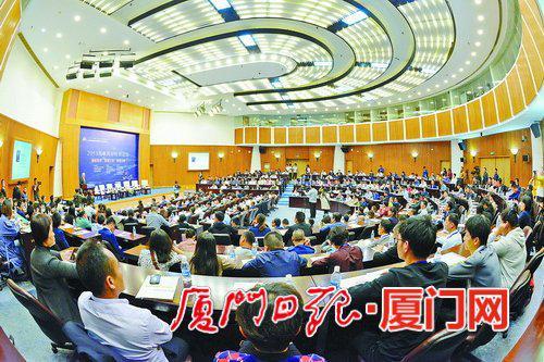 2019海峡两岸经贸论坛昨开幕。(本报记者 黄晓珍 摄)