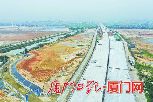 南港特大桥的建设令厦门翔安机场快速路整体建设进度可控。
