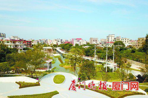 ■公园景观已具雏形。