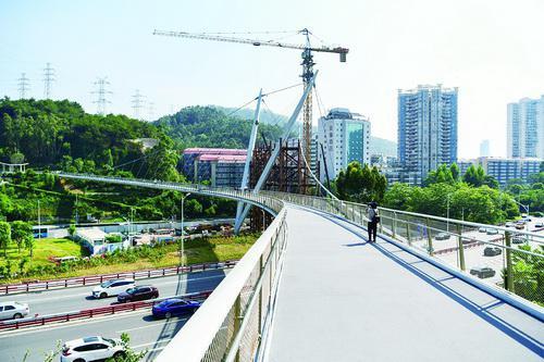 厦门山海健康步道2号节点桥梁基本建成 今日开放通行