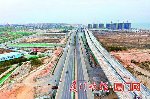 厦门机场大道示范段春节前将正式通车