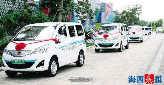 微循环公交车将上路服务市民、游客。记者 陈理杰 摄