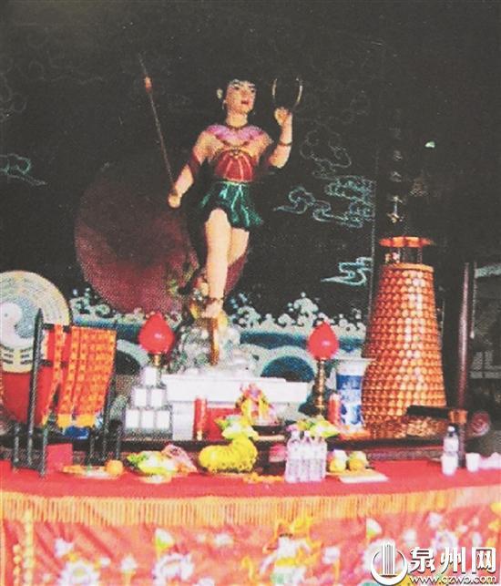 泉州庙宇供奉的哪吒神像