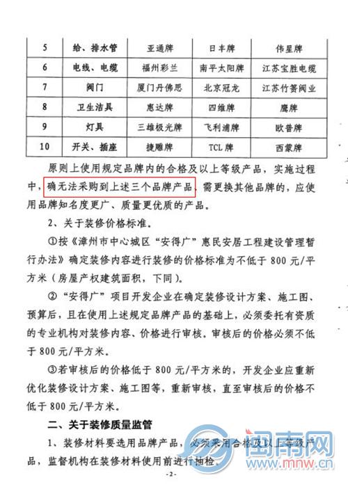 漳州大唐幸福里项目现装修协议陷阱 装修仅可选颜色