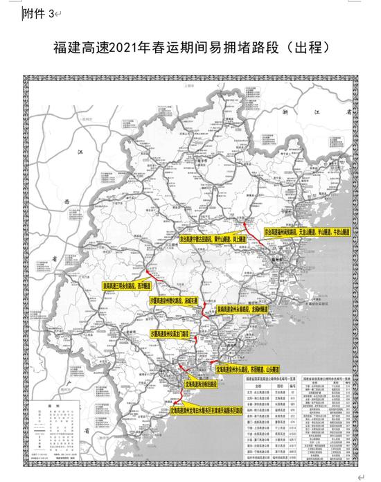 2021年春运(春节)福建省高速公路交通安全出行提示
