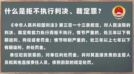 晋安检察:【检察官普法】诚信为人&拒不执行判决、裁定罪,你选哪个?