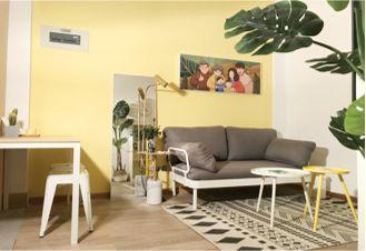 ▲ 家庭公寓户型为两房一厅、一房一厅和单间,楼宇配置智能安全设施、消防设施设备、楼顶晾晒区、亲子活动空间。
