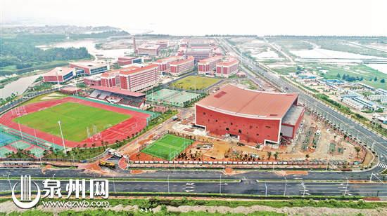 体育馆整体设计风格与晋江科教园区融为一体