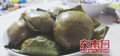 """福州特有的""""菠菠粿"""" 东南网记者 张立庆 摄"""