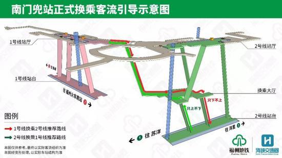 12月3日起,市民换乘这样走(福州地铁供图)