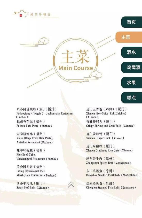 菜单上有哪些福州菜呢?