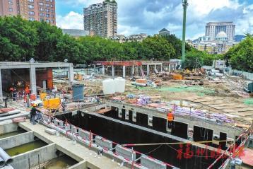 ▲梅峰污水处理站为地埋式,上方将建公园。