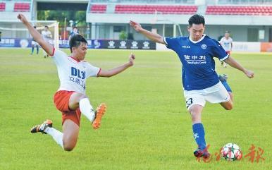 """""""海青杯""""两岸青年足球邀请赛。记者叶义斌 摄"""