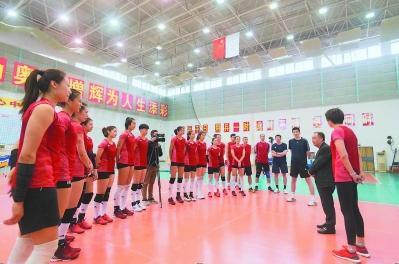 集训中的中国女排