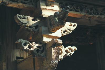 莆田北岸管委会山亭乡莆禧古城古建筑上的木刻 许武 摄
