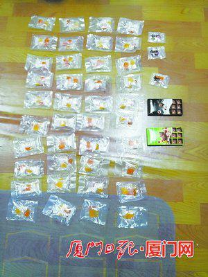 民警缴获的大麻巧克力和大麻糖果。(警方供图)